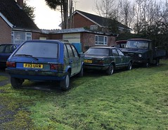 1989 Austin maestro special, 1979 ford cortina mk4 , 1980 freight rover Sherpa (josh@mgmsolihull.co.uk) Tags: mk4cortina abandoned abandonedcars fordcortina ford sherpavan sherpa freightrover freightroversherpa britishleyland leyland maestro austinmaestro austin