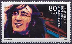 Deutsche Briefmarken (micky the pixel) Tags: briefmarke stamp ephemera deutschland bundespost jugendmarke fürdiejugend rockmusik popmusik musiker johnlennon thebeatles