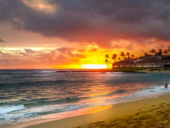 Feb.13_Hawaii Sunset (M Jalone) Tags: hawaii dailypost 365days iloveyou landscape seascape water ocean sunset clouds sky beach kiahuna kauai poipu poipubeach endoftheday romance bestplace