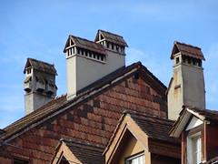 DSC00725 (visol) Tags: chimneys cheminées chimeneas chamine camino tximinia tejados teulades chimney azul blau