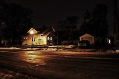 AMERICANA ON A WINTER'S NIGHT  II (panache2620) Tags: art homes houses winter simple urban city minneapolis minnesota fineart photojournalism photodocumentary socialdocumentary documentary americana residential night