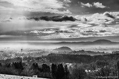 The end ( of 2018 ) is near (wketsch) Tags: landscape graz platte dark black cloudscape end monochrome dramatic city at sony 50mm gloomy noon backlight