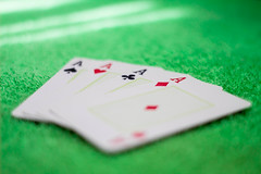 All Aces on the Green Table (Pablo_Fernandes) Tags: aces spades hearts clubs diamonds casino poker blackjack cards bet