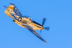 North American P-51 Mustang (gilamonster8) Tags: aircraft 150600mm1563dgc dmafb sigma prop fighterplane wing northamericanp51mustang mustang fly p51 flickr tucson fighter warbird blue usaf airforce flight plane cockpit airshow 2018heritageflighttraining sky arizona 7dmarkii canon wwii eos