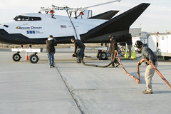 Dream Chaser ALT-2 Free Flight (aeroman3) Tags: armstrongflightresearchcenter afrc commercialresupplyservices crs2 commercialcrew commercialspace iss sierranevadacorporation snc dreamchaser alt2 freeflight edwards ca usa