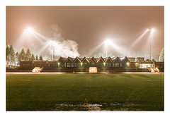 The flooding (Markus Lehr) Tags: sportsground floodlight fog grass smoke longexposure availablelight night nightshot manmadelandscape atmosphere mood cinematic contemporaryphotography berlin germany markuslehr