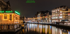 Nightscape with a canal (Magic life gallery) Tags: amsterdam northholland netherlands nl