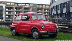 Fiat 600L 1973 (XBXG) Tags: 8658xu fiat 600l 1973 fiat600l 600 fiat600 red rood rouge aquamarin weesp nederland holland netherlands paysbas vintage old classic italian car auto automobile voiture ancienne italienne italie italia italy vehicle outdoor