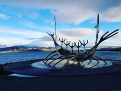 sun voyager (antmany2k) Tags: iceland reykjavik statue sculpture clouds water sea