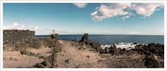Los Cancajos, La Palma, 24x56 analog (Dierk Topp) Tags: cancajos abandoned analog atlantic canaryislands horizon horizon202 islascanarias lapalma pano panorama waves