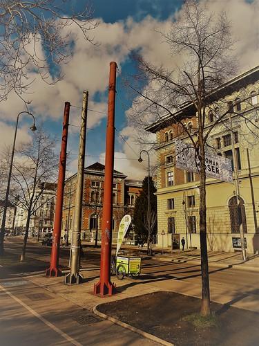 Wien, 1. Bezirk (the art of very historic buildings of Vienna), Museum für Angewandte Kunst (Musée d'art appliqué, Museo de arte aplicado, Museo di arte applicata, Museum of applied art) - Stubenring/Weißkirchnerstraße (MAK DESIGN LAB)