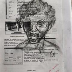Anima Dannata. Autorretrato de Bernini, gritando como un condenado al infierno... Dibujos rápidos en restos de papel... . . .. . #draw  #artlovers #artdaily #artist  #artoftheday #artofinstagram #drawing #woman #painting  #artwork  #instaart  #fotografia (egc2607) Tags: sketch sculture bernini artwork lapiz art tattoo inferno artdaily bw escultura artphoto artlovers artoftheday photography bellezza ronaldo pencildrawing artist painter painting instaart drawing zaragoza fotografia portrait woman crayon artofinstagram draw