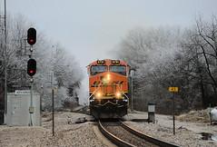 BNSF 6791, Norwood, MO (Paul De Luca) Tags: train bnsf icestorm