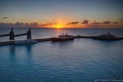 Sunset Barbados #2 (jianliu2013) Tags: southcaribbencruise sea ship harbor sunset skyline clouds