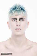 Philipp Look I / 4 (FrameChaser) Tags: hair handsome boy man male portrait nude twink color haircoloring eyes blue makeup fineart studio highkey nikon d850 gay retouching postproduction beauty hairstyle hairdresser