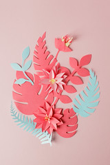 Exotic tropical multicolored leaf paper composition, creative application handcraft on a pink background with copy space. Greeting card. Flat lay, live coral concept (gogotomay) Tags: design decoration nature leaf flora flower summer art pattern beautiful spring application background pink botanic branch card colorful monochrome coral live craft evergreen flatlay greeting handcraft papercraft handmade natural origami palm paper plant pop top view tropical blossom monstera decorative bouquet shadow 3d mother day valentine feminine romance floral elements