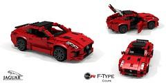 Jaguar F-Type SVR Coupe (lego911) Tags: jaguar ftype svr coupe 2016 v8 supercharged supercar sportscar jlr 2010s auto car moc model miniland lego lego911 ldd render cad povray afol uk gb british luxury