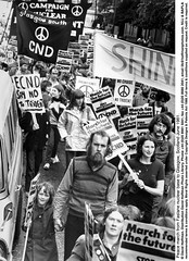 Peace March 1981 2 (hoffman) Tags: banner cnd demo demonstration march peace protest vertical walking davidhoffman wwwhoffmanphotoscom glasgow scotland