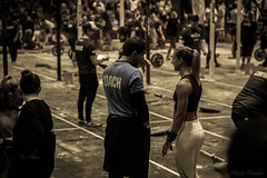 Coach (bjarki3) Tags: crossfit fitness woman bw sepia coach colchester championships european nikon d800e weights
