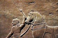 Horse and groom (calmeilles) Tags: london england unitedkingdom ashurbanipal britishmuseum middleeast nineveh