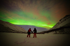 Northern Lights 'Selfie', Tromso (Frightened Tree) Tags: norway tromso aurora northern lights frozen winter snow wandering owl travel selfie mountain lake forest trees tree holiday hike hiking walking night sky stars samyang 14mm rokinon cold