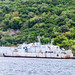Abandoned military ship in the bay of Kotor