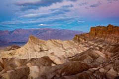 Moon Setting, Close Up, Death Valley National Park_ (Basak Prince Photography) Tags: deathvalley nationalpark places zabriskiepoint badlands california colors deathvalleynationalpark eurekasanddunes layers moon moonsetting pink sunrise wintersunset zabrinskipoint