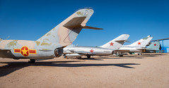 Line-up of Soviet Era Military Jets (Serendigity) Tags: arizona cccp pima pimaairspacemuseum sovietunion tucson usa unitedstates aircraft aviation desert jets military museum outdoors redstar unitedstatesofamerica