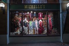 Michelle's Canadiana (Clayton Perry Photoworks) Tags: vancouver bc canada winter explorebc explorecanada sign night lights gastown store window