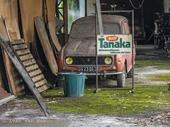 Tanaka (Ivan van Nek) Tags: tanaka débroussailleuses tailleusesdehaies renault4 ruepierrecurie saintgaudens hautegaronne france sonydscv3 sony v3 frankrijk frankreich 31 midipyrénées occitanie garage