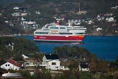 Bergensfjord (Aviation & Maritime) Tags: bergensfjord fjordline ferry carferry cruiseferry passengerferry passengership grimstadfjorden bjorøy bergen norway