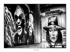 Hit the road Jack !!! (michel di Méglio) Tags: olympus marseille silveefexpro zuiko noiretblanc bw streetart rue ville city street