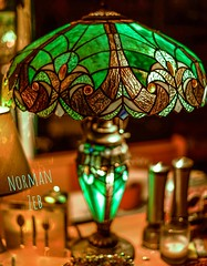 My table lamp (stained glass) (a2roland) Tags: red beautiful dine datenight normanzeb candlelightdinner zeb dating stainedglassart table tablelamp glass art pretty green bench tiffanylamp dining lamp artwork norman stainedglass gorgeous dslrphotography desk spectacular illuminated dslr photography