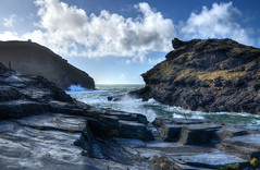 Harbour mouth at Boscastle, Cornwall (Baz Richardson) Tags: cornwall boscastle habours cliffs inlets roughseas nationaltrust coast