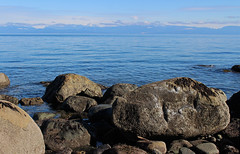 Across the Salish Sea (21mickrange) Tags: nanaimo vancouverisland hammondbay sealandpark salishsea pacificocean winchelseaislands texada lasqueti beach trees douglasfirs bigleafmaples coastmountains britishcolumbia