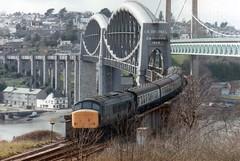 45122 Royal Albert Bridge St Budeaux April 1983 (clivepsmithmarch1960) Tags: 45122 stbudeaux royalalbertbridge