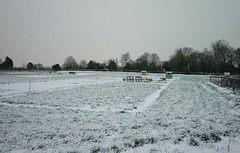 The first snow for the new allotment sheds (3pebbles) Tags: allotments rural snow shed digging cultivation