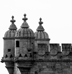 Torre de Belem [Belem Tower] (Detail) (pedrosimoes7) Tags: torredebelem belemtower architecture portuguesearchitecture manuelino perspective arquitectura arquitecturaportuguesa blackandwhite blackwhite blackandwhiteonly blackwhitepassionaward belem lisbon portugal limestone lioz unescoworldwidesite manuelinestyle masterpiecemansion