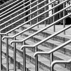 Railings (M. P. Cox) Tags: stairs abstract