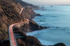 Between Sea and Mountain (Kirk Lougheed) Tags: bigsur california usa unitedstates coast landscape lighttrail ocean outdoor pacific pacificocean road sea water