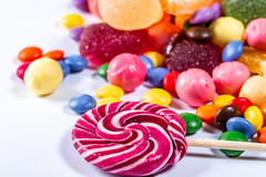 Colorful candies, lollipops and marmalade (wuestenigel) Tags: hard sugar color different bonbon background orange red mix delicious candy assortment heart yellow white jelly group lolly macaroons confection closeup lollypop blue food holiday texture birthday dessert marmalade colorful sweet dark lollipop lollipops top candies cookies green many fruit confectionery childhood