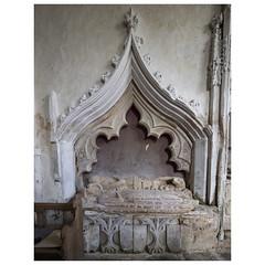 Tomb of Thomas de Burgh (d.1334) (badger_beard) Tags: st augustine canterbury burrough green cambridgeshire south cambs east newmarket parish church england monument thomas de burgh recess chancel