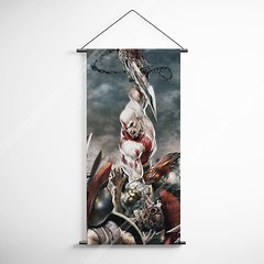God Of War 23 Kratos Decorative Banner Flag for Gamers (gamewallart) Tags: background banner billboard blank business concept concrete design empty gallery marketing mock mockup poster template up wall vertical canvas white blue hanging clear display media sign commercial publicity board advertising space message wood texture textured material wallpaper abstract grunge pattern nobody panel structure surface textur print row ad interior