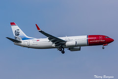[ORY] Norwegian Boeing 737-800 _ EI-FVI (thibou1) Tags: thierrybourgain ory lfpo orly spotting aircraft airplane nikon tamron sigma boeing boeing737 b737800 b738 norwegian gustafdalén d810 landing eifvi