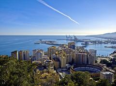 Málaga city (lauracastillo5) Tags: city cityscape buildings sky blue sea seascape beach ocean horizon water landscape street skyporn outdoors