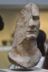 Marble Statue Head (c. AD 50) (Bri_J) Tags: britishmuseum london uk museum d7500 nikon marble statue head juliuscaesar sanctuary athenapolias priene asiaminor romansculpture sculpture damage historymuseum