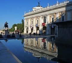 Piazza del Campidoglio (giorgiorodano46) Tags: dicembre2011 december 2011 giorgiorodano roma italy piazza square campidoglio fontana riflessi