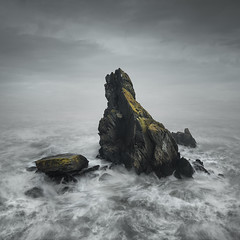 The Hidden Land (www.neilburnell.com) Tags: mood sea seascape creative long exposure ocean stack rugged coast