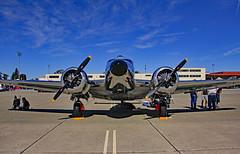 Travis AFB Airshow 2019 1954 Beech D18S N3532B _02 (Walt Barnes) Tags: canon eos 60d eos60d canoneos60d wdbones99 airfield airstrip aerodome aeronautics aerodynamics flight afb airforcebase airshow display travis travisafb calif ca beechcraftmodel18 beech d18s