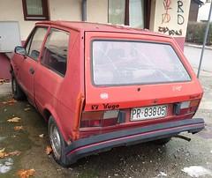 1988 Yugo Koral 45 (FromKG) Tags: yugo koral 45 red car zastava kragujevac serbia 2018